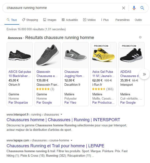 photos de résultats de recherche pour des chaussures de running